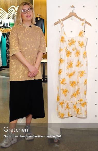 Arcadia Floral Print Midi Dress, sales video thumbnail