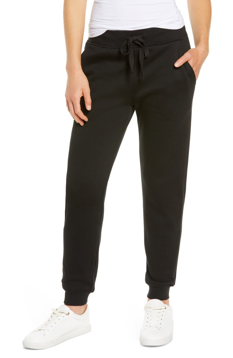 UGG Kantner Pajama Pants, Main, color, BLACK