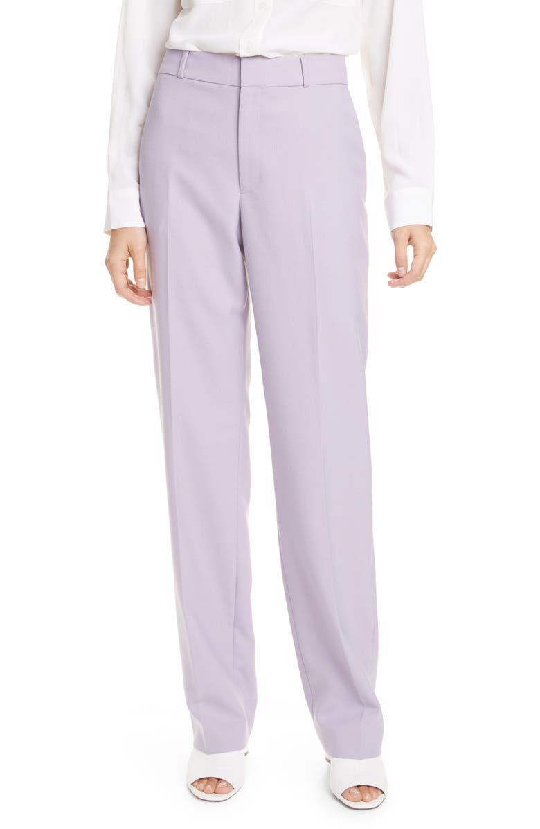 CLUB MONACO Basket Weave Trousers, Main, color, LILAC
