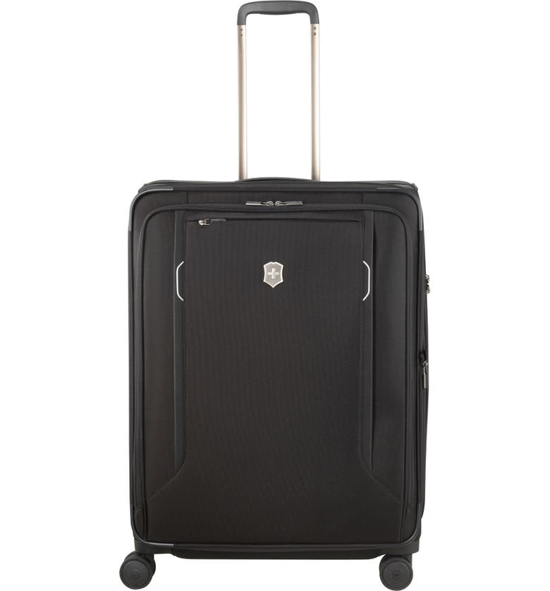 VICTORINOX SWISS ARMY<SUP>®</SUP> Werks 6.0 Large 28-Inch Spinner Packing Case, Main, color, BLACK