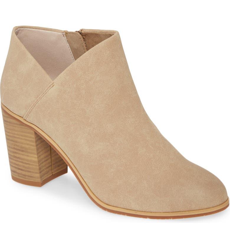 BC FOOTWEAR Kettle Vegan Block Heel Bootie, Main, color, TAUPE SUEDE