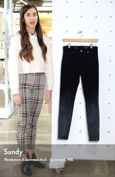 The Farrah High Waist Velvet Ankle Skinny Jeans, sales video thumbnail