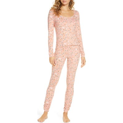 Bp. Hacci Fitted Pajamas, Pink