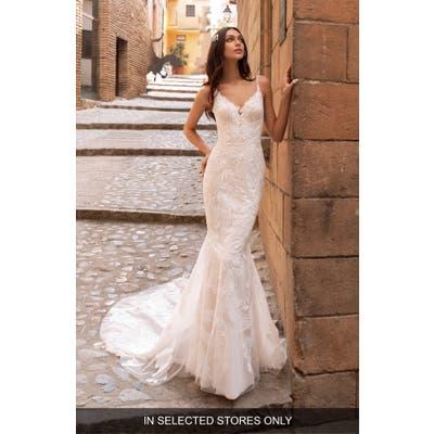 Pronovias Albiorex Embellished Mermaid Wedding Dress, Size IN STORE ONLY - Ivory