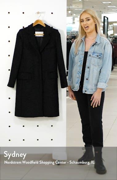 Oncia Textured Alpaca & Wool Coat, sales video thumbnail