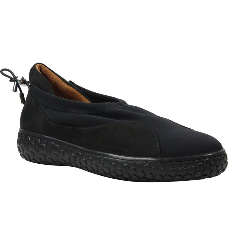 L'AMOUR DES PIEDS Zaidee Flat, Main, color, BLACK NUBUCK LEATHER