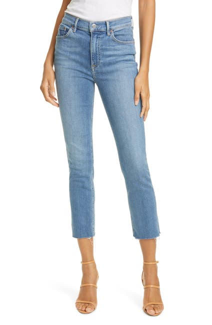 Image of GRLFRND Reed High Waist Crop Skinny Jeans