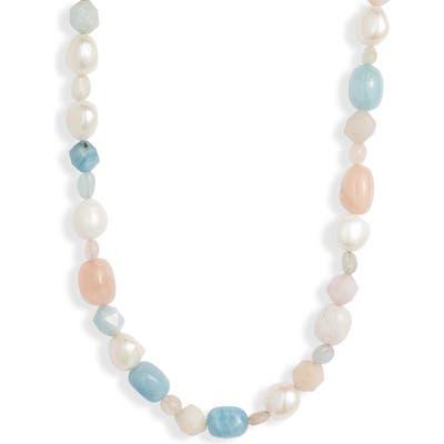 Knotty Chunky Stone Necklace