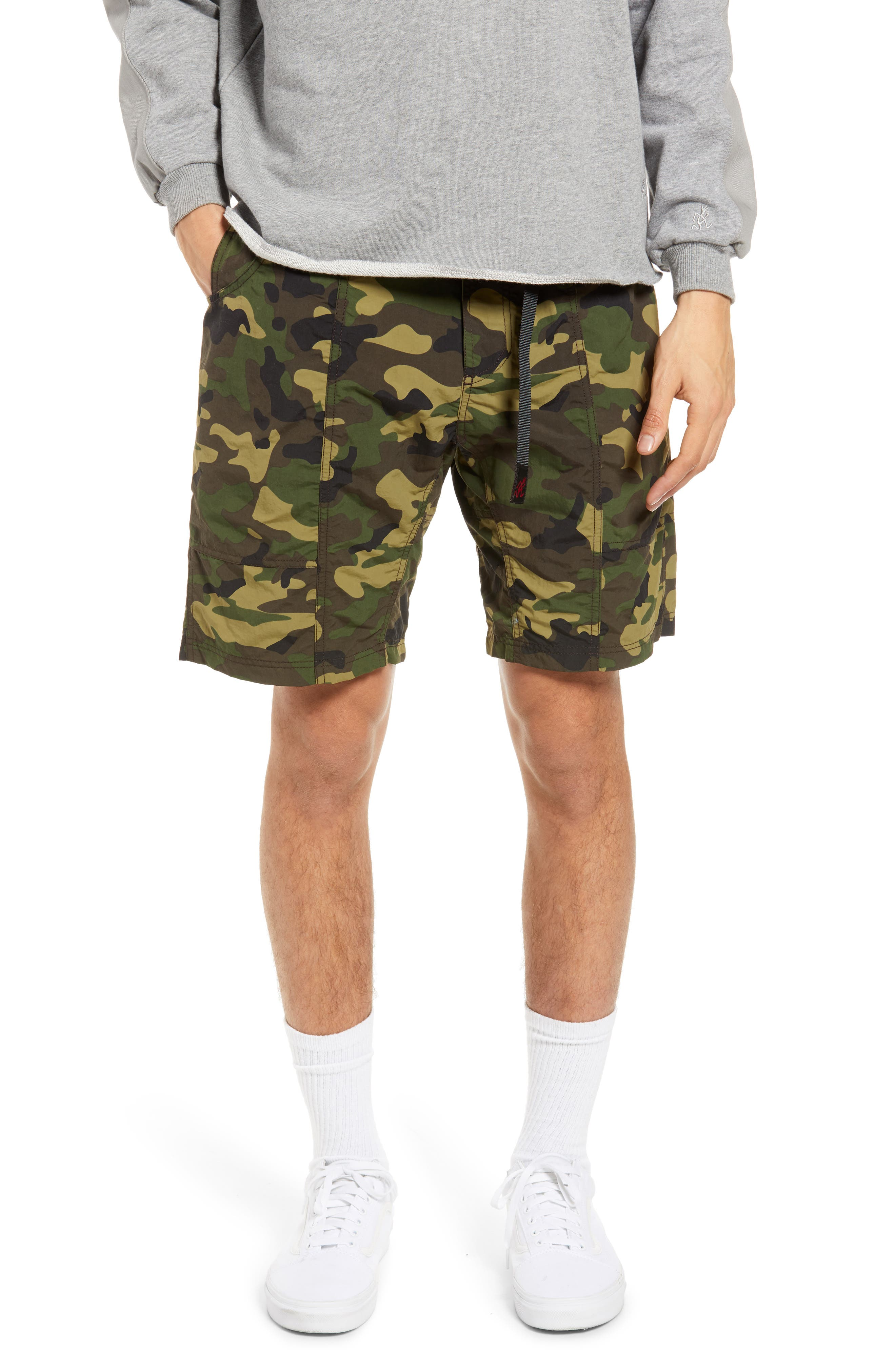 Shell Gear Camo Belted Cargo Shorts