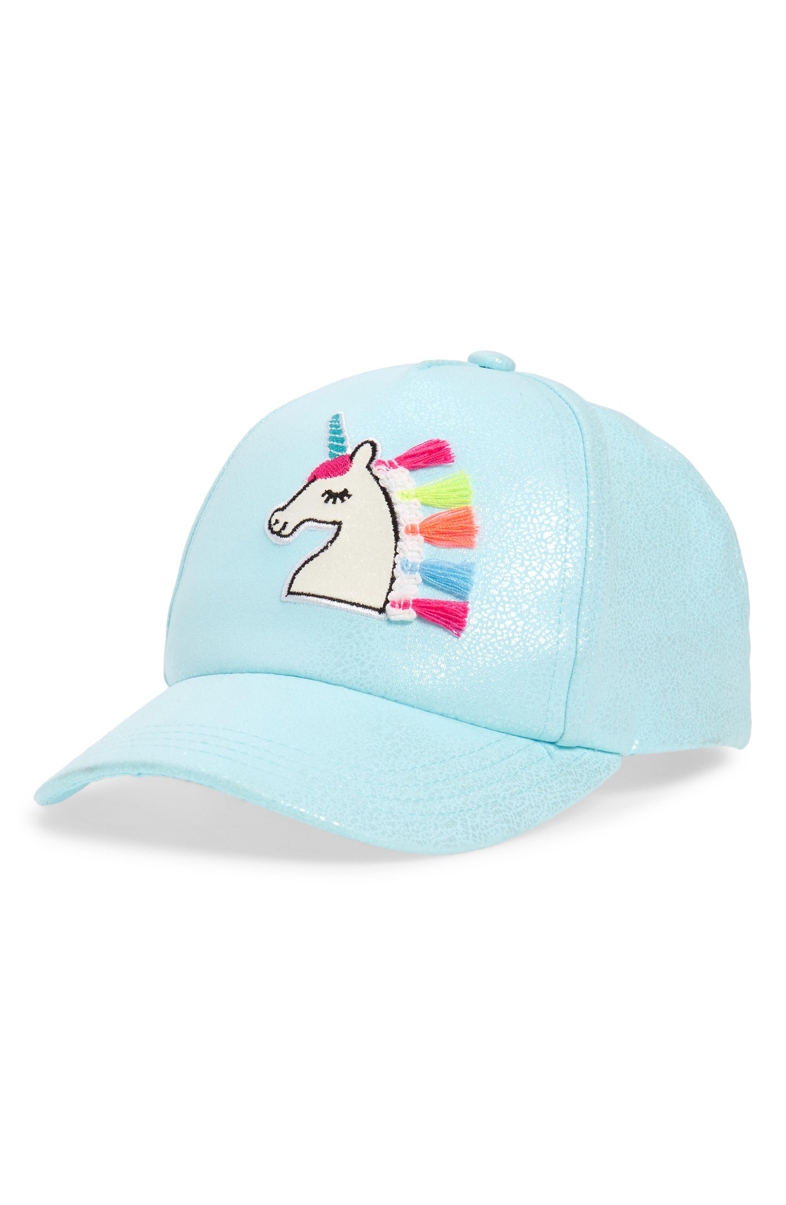 Girls Capelli New York Magical Unicorn Baseball Hat  Blue