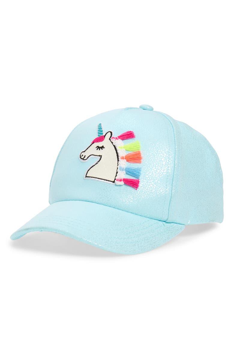 CAPELLI NEW YORK Magical Unicorn Baseball Hat, Main, color, 400