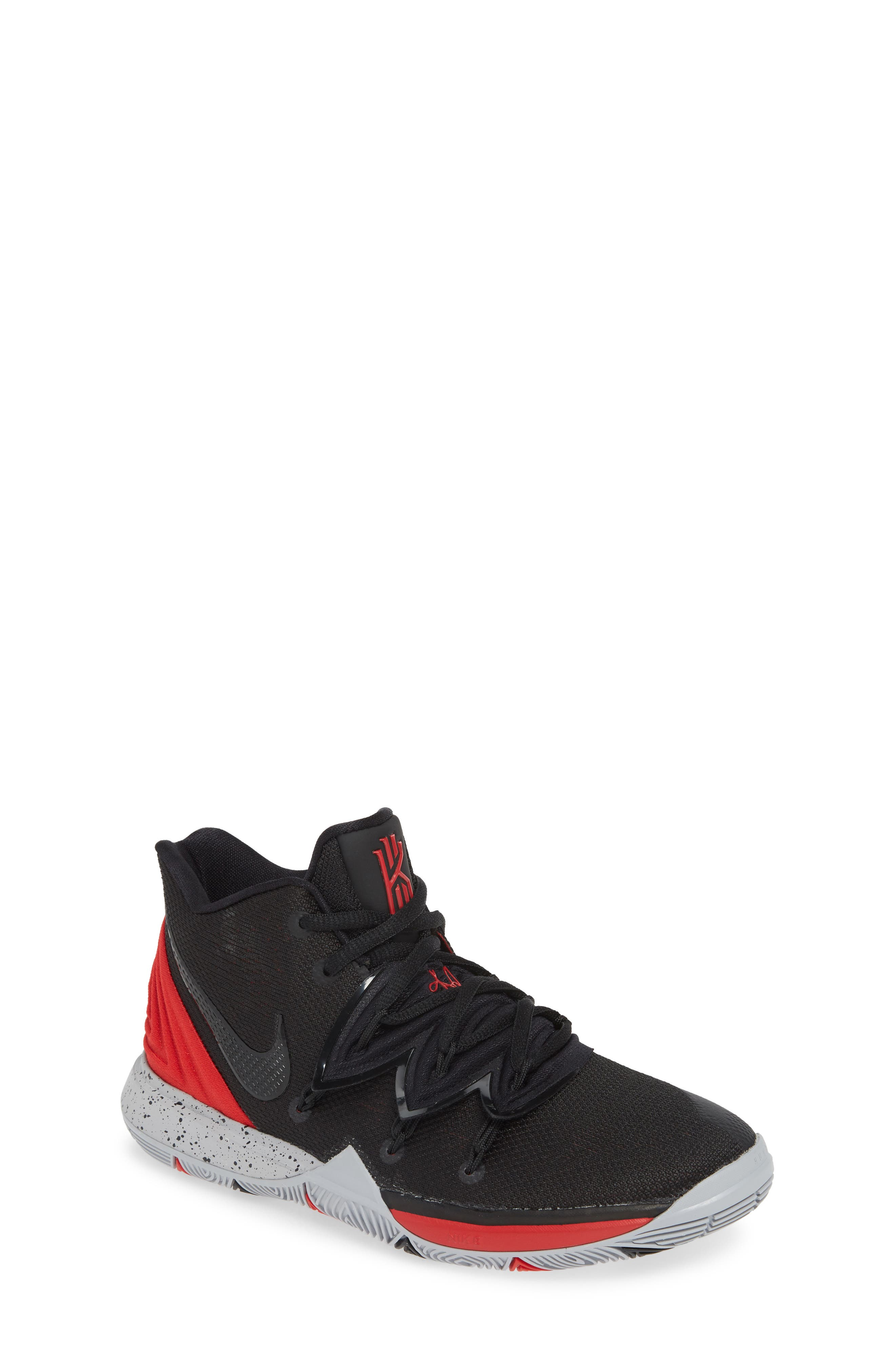 ,                             Kyrie 5 Basketball Shoe,                             Main thumbnail 1, color,                             UNIVERSITY RED/ BLACK-PLATINUM