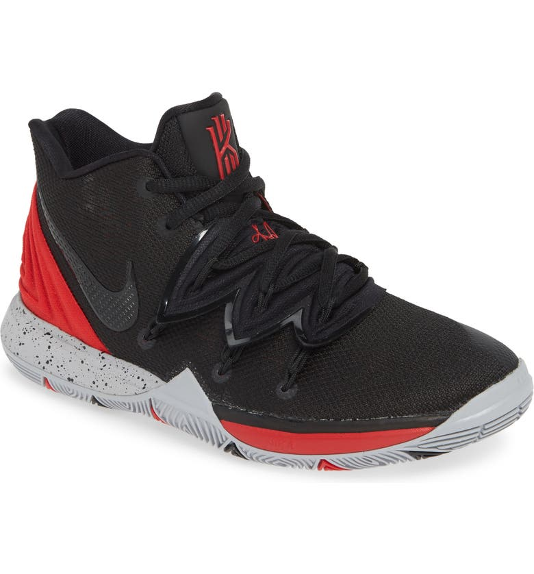 NIKE Kyrie 5 Basketball Shoe, Main, color, UNIVERSITY RED/ BLACK-PLATINUM