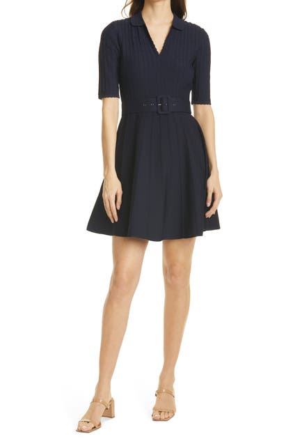 Ted Baker Knits ALEEE COLLARED KNIT SKATER DRESS