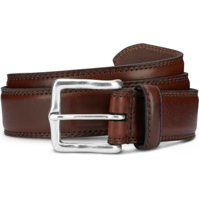 Allen Edmonds Wide Street Leather Belt, Brown