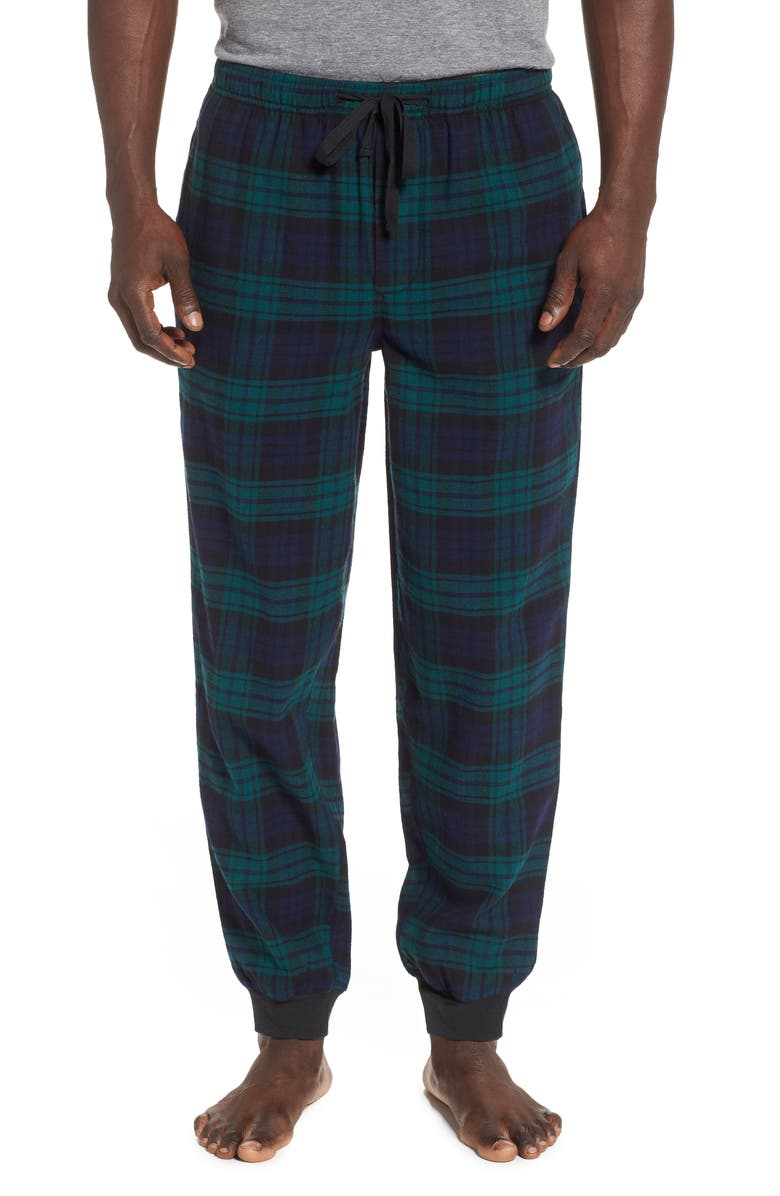 NORDSTROM MEN'S SHOP Flannel Jogger Pants, Main, color, BLACK WATCH PLAID