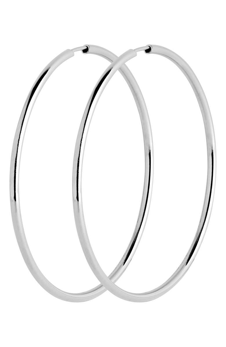 MARIA BLACK Senorita 50mm Endless Hoop Earrings, Main, color, 040