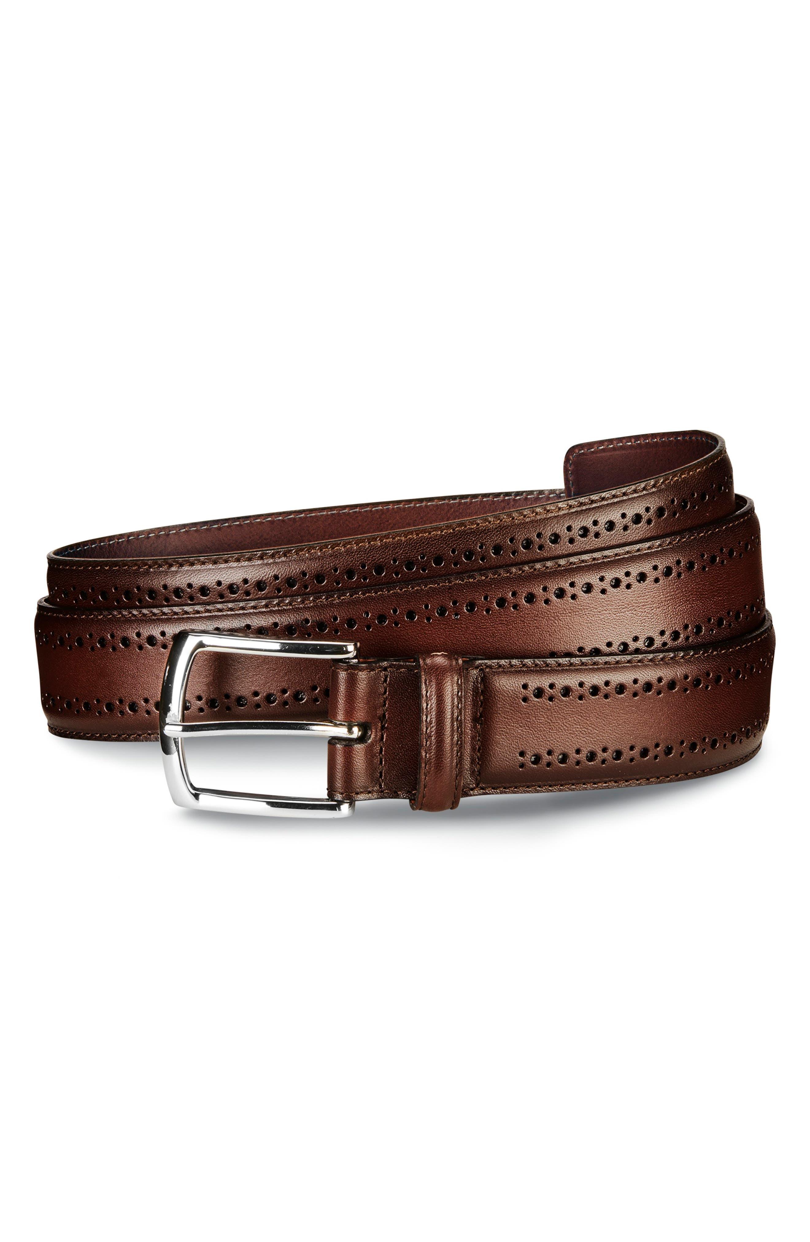 Manistee Brogue Leather Belt