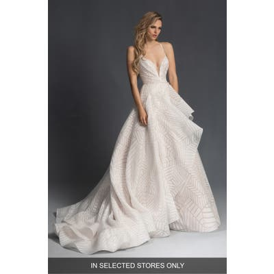 Hayley Paige Charles Geo Pattern Organza Wedding Dress, Size IN STORE ONLY - Ivory