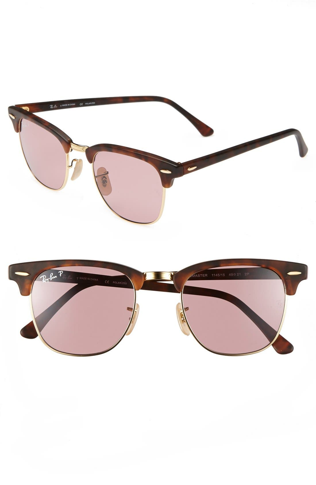 ,                             'Clubmaster' 49mm Polarized Sunglasses,                             Main thumbnail 5, color,                             650