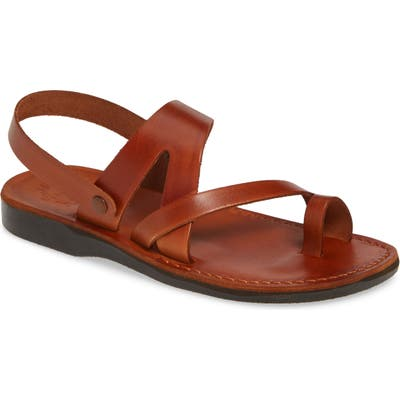 Jerusalem Sandals Benjamin Sandal,10.5 - Brown