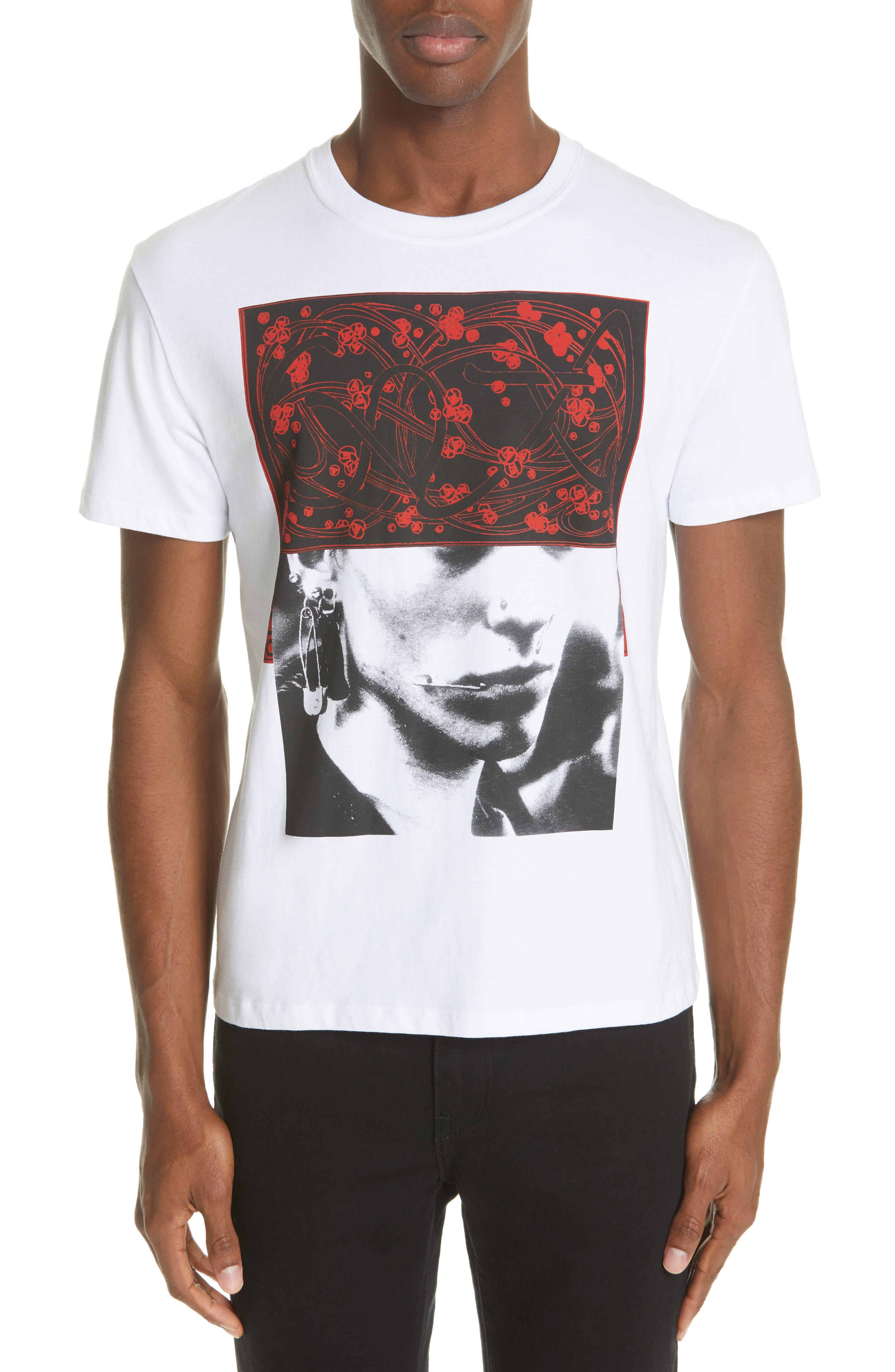 Pierced Mouth Graphic T-Shirt, Main, color, WHITE
