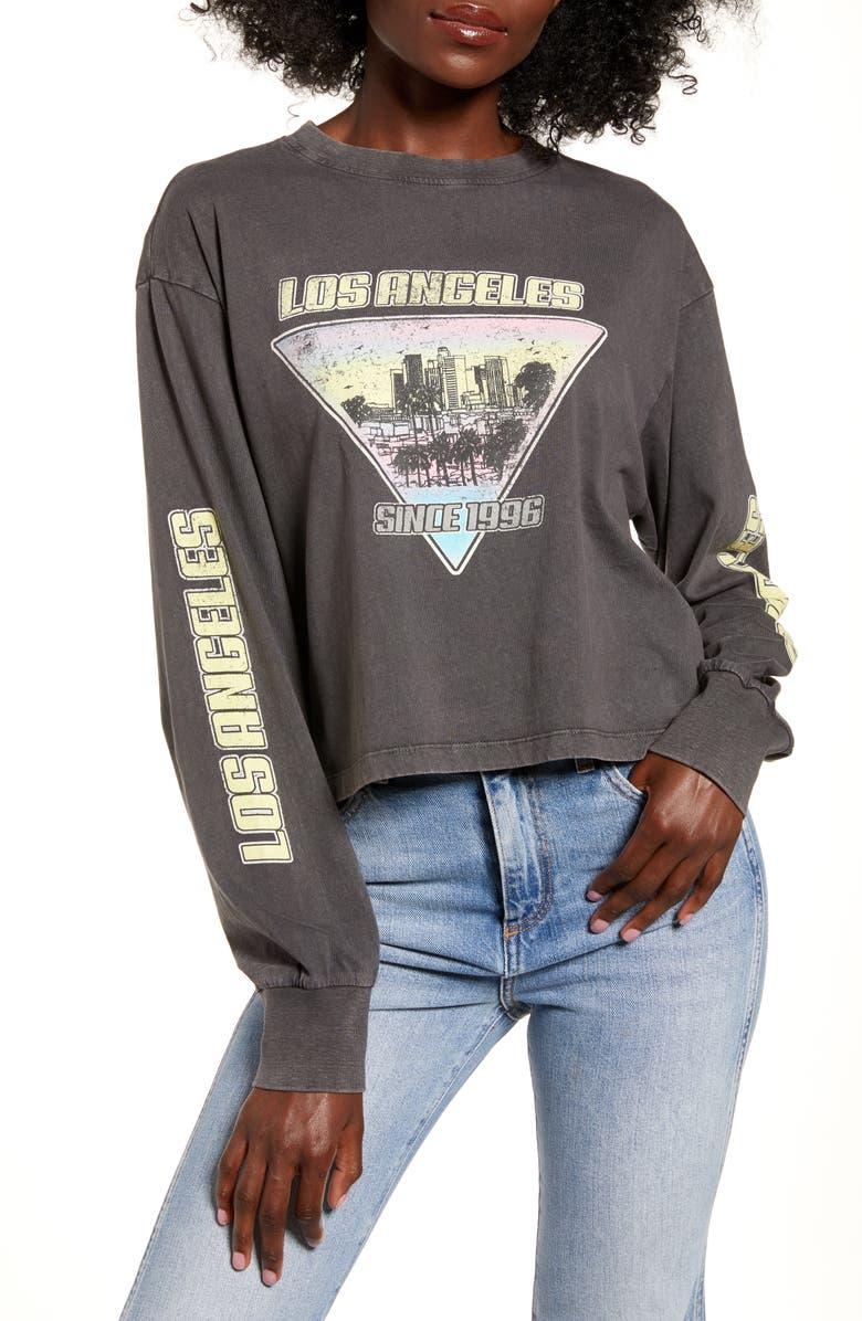 URBAN NATION Los Angeles Long Sleeve Tee, Main, color, 001