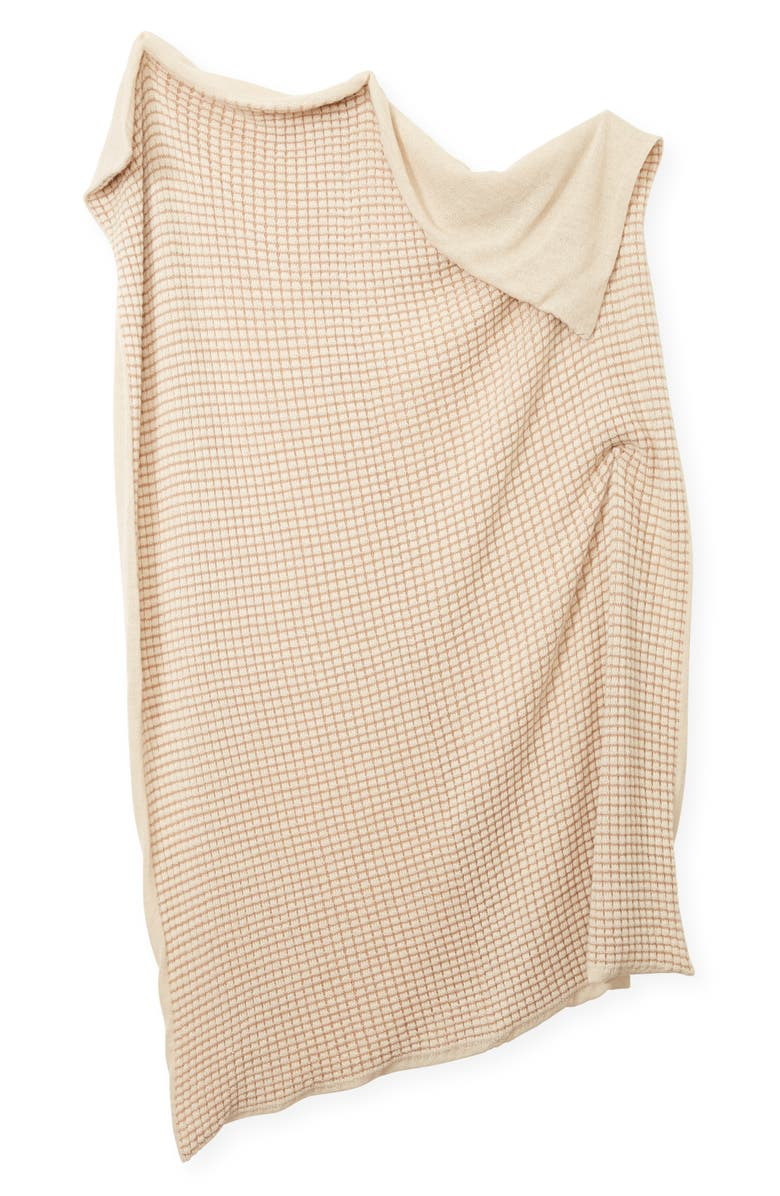 MINNA Basket Alpaca Throw Blanket, Main, color, CAMEL