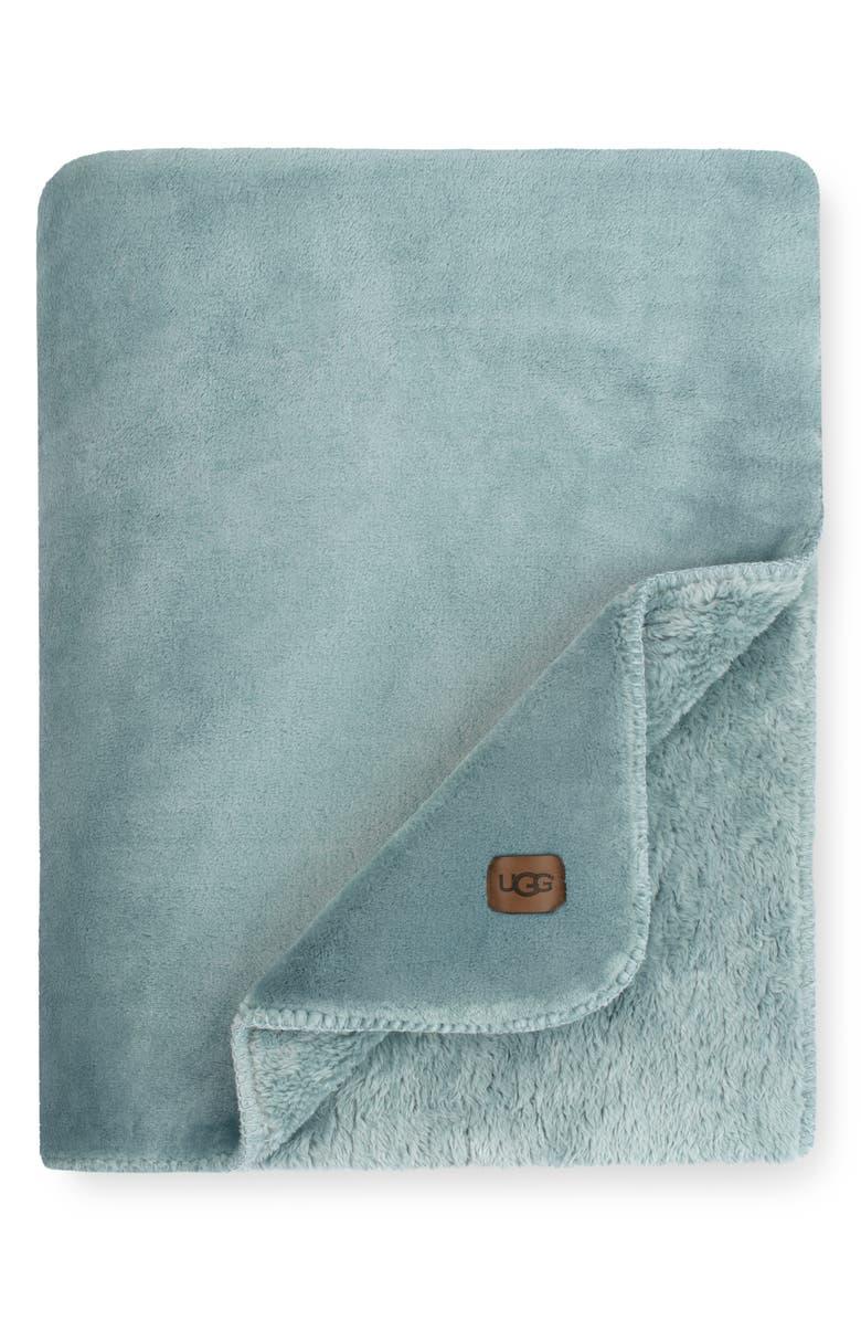 UGG<SUP>®</SUP> Whistler Throw Blanket, Main, color, SLATE