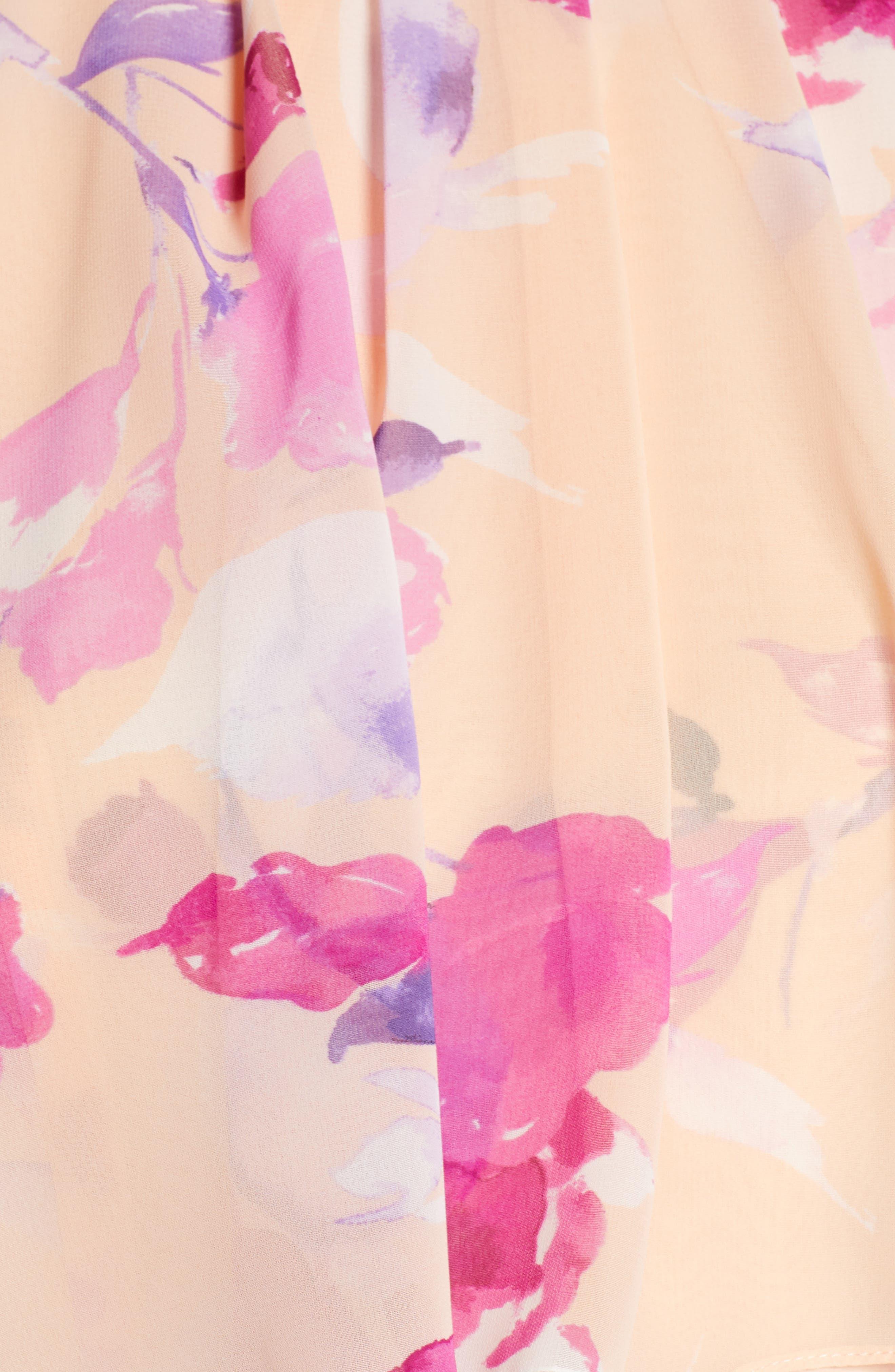 ,                             Halter High/Low Midi Dress,                             Alternate thumbnail 6, color,                             BLUSH