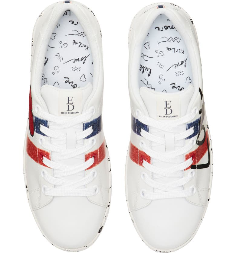 ED ELLEN DEGENERES Chadoodle Sneaker, Main, color, WHITE LEATHER