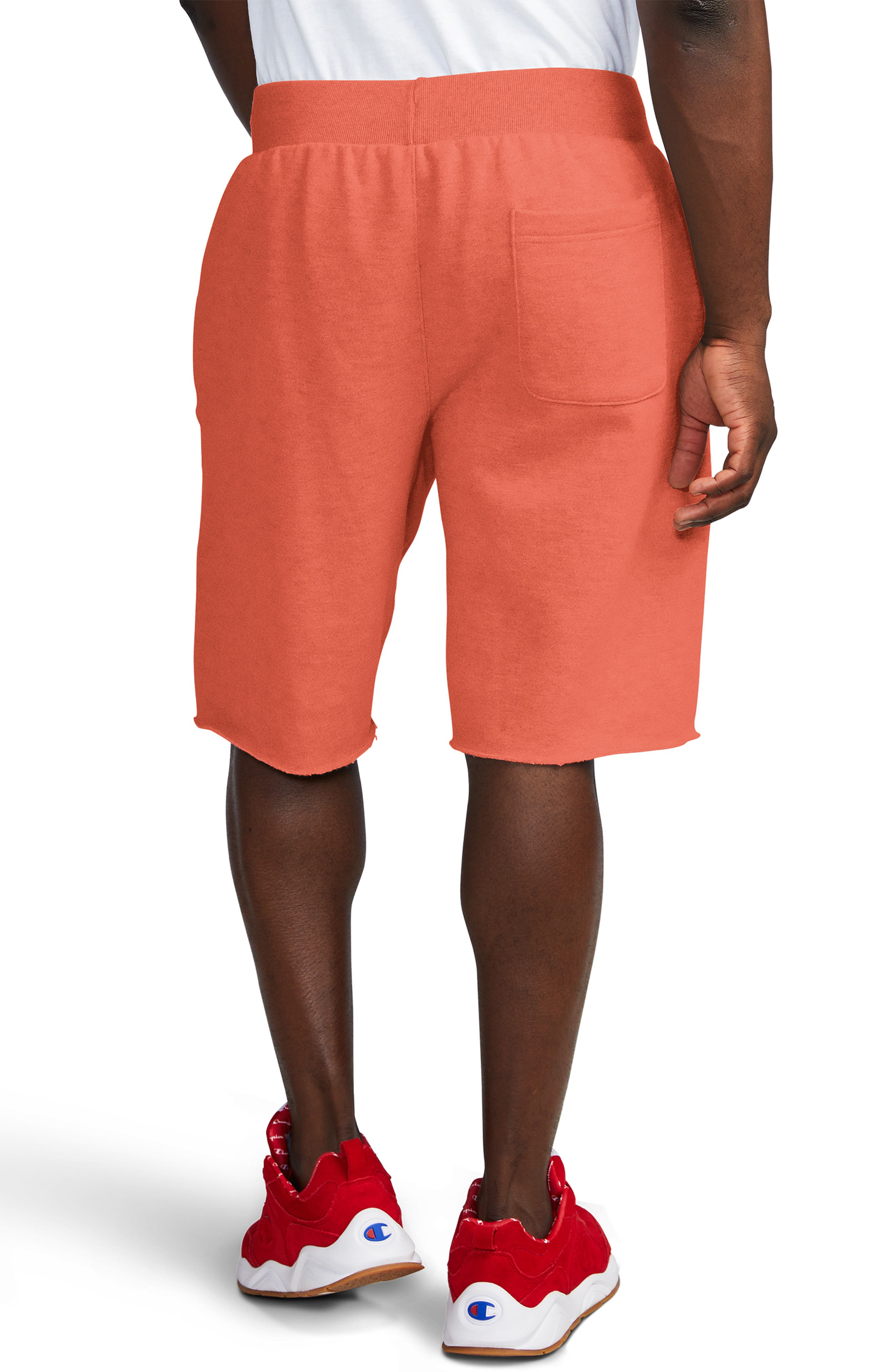 ,                             Reverse Weave Shorts,                             Alternate thumbnail 2, color,                             GROOVY PAPAYA
