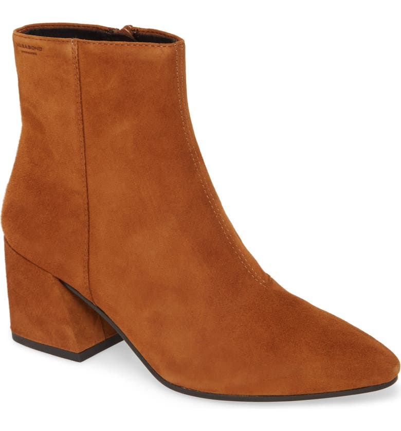 VAGABOND SHOEMAKERS Olivia Bootie, Main, color, CARAMEL SUEDE