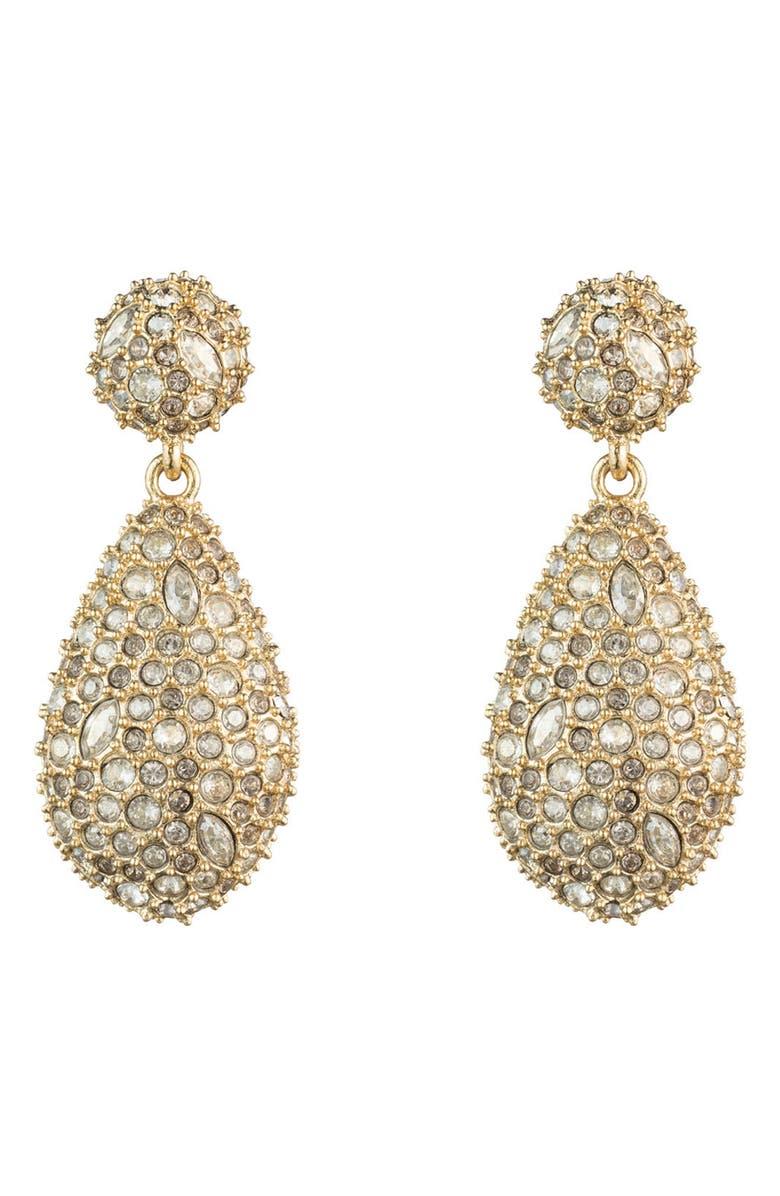 ALEXIS BITTAR Pavé Pod Drop Earrings, Main, color, CRYSTAL/ GOLD