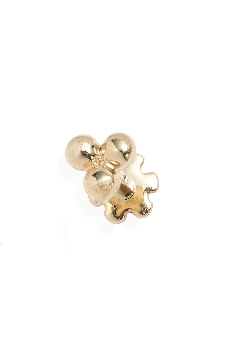 MARIA TASH Large Trinity Ball Threaded Stud Earring, Main, color, YELLOW GOLD