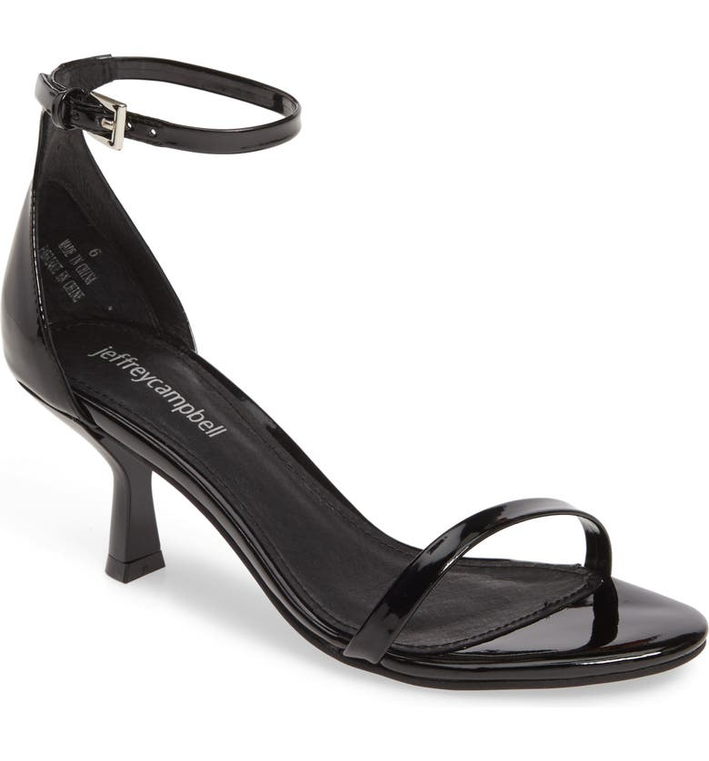 JEFFREY CAMPBELL Entice Ankle Strap Sandal, Main, color, BLACK PATENT
