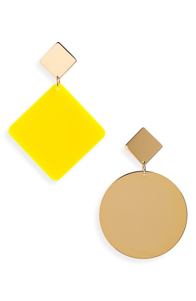 ISABEL MARANT Asphalt Mismatched Earrings, Main, color, 700