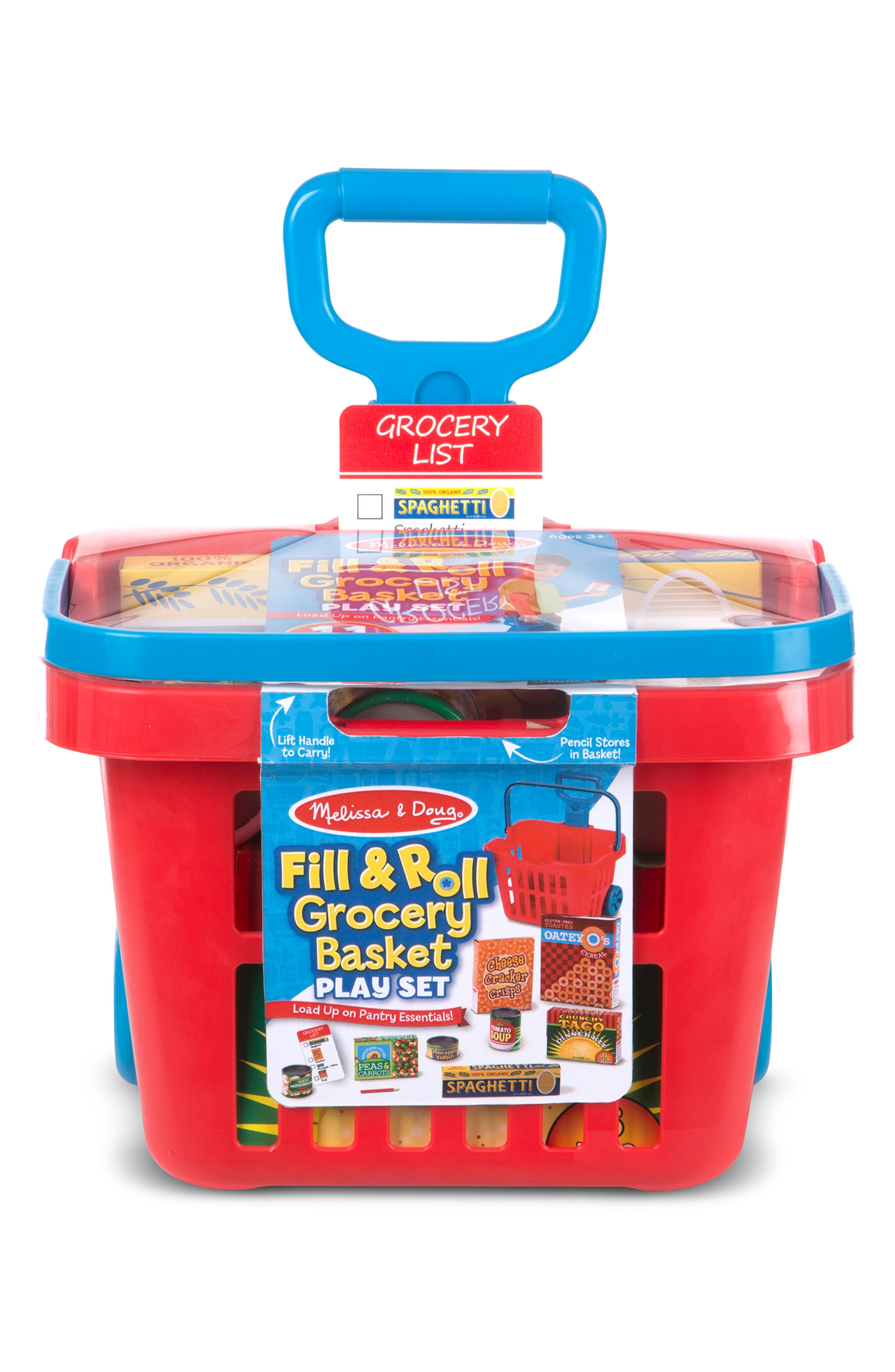 Fill & Roll Grocery Basket Play Set, Main, color, MULTICOLORED