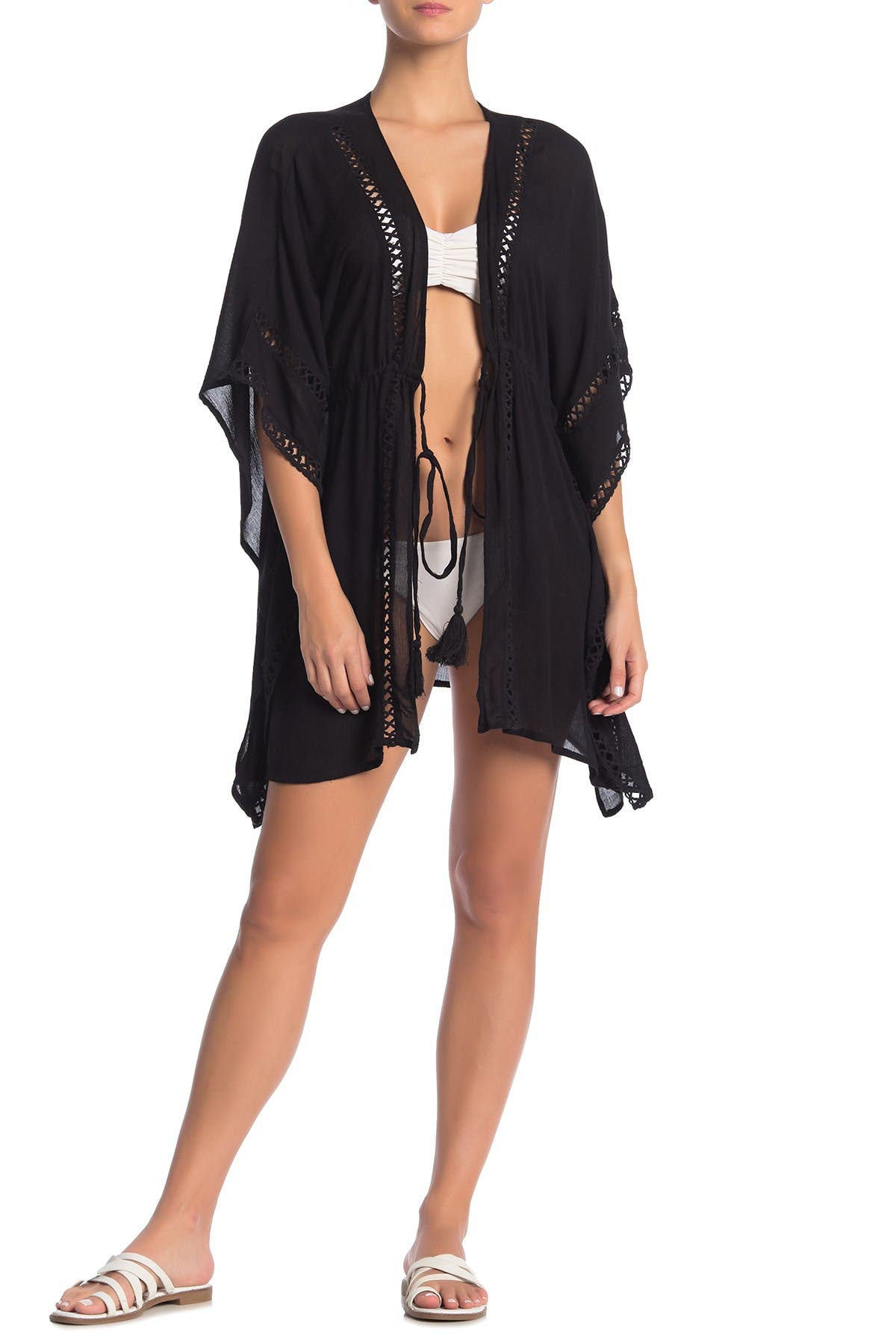 Image of BOHO ME Solid Lace Trim Cover-Up