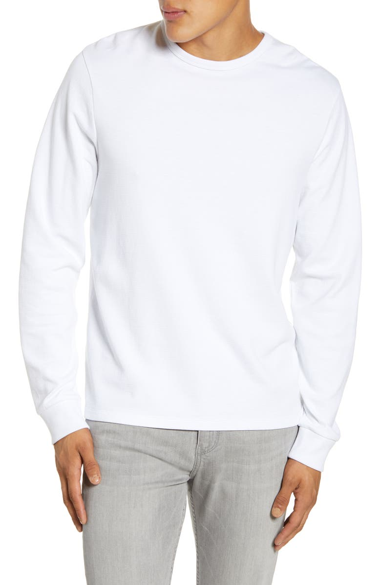 FRAME Quilted Back Panel T-Shirt, Main, color, BLANC