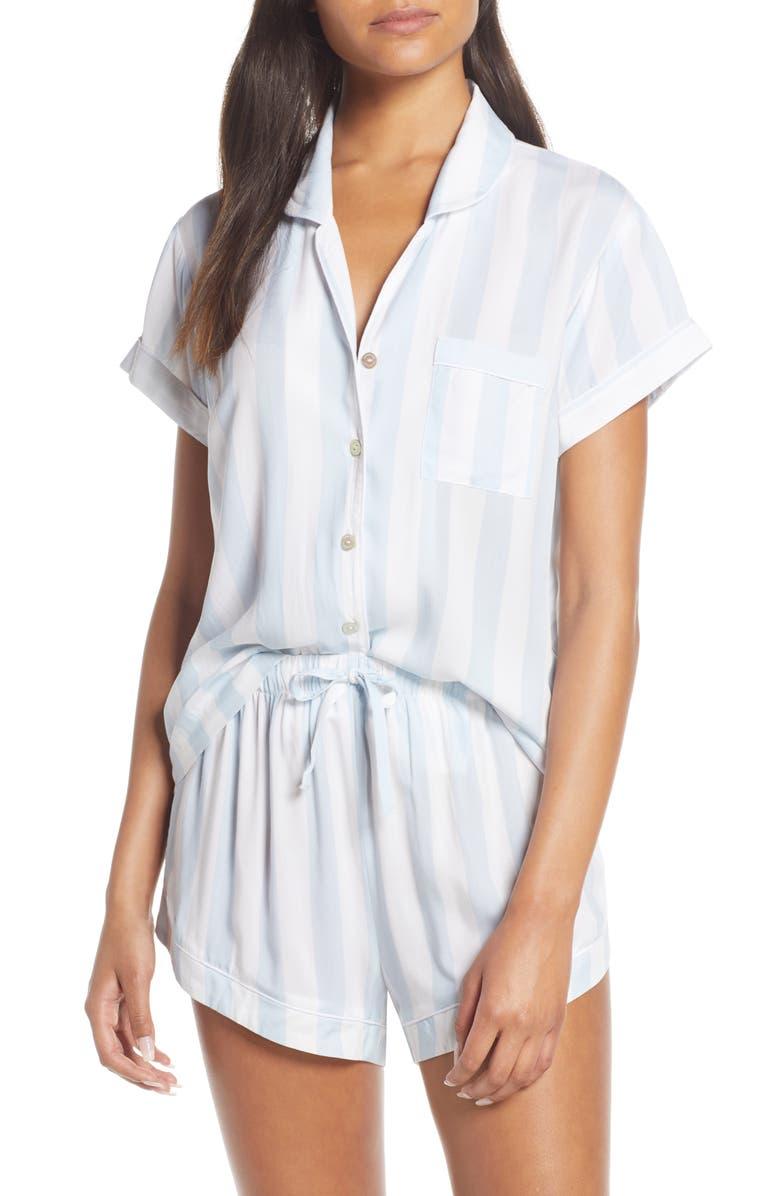 HOMEBODII Stripe Short Pajamas, Main, color, 400
