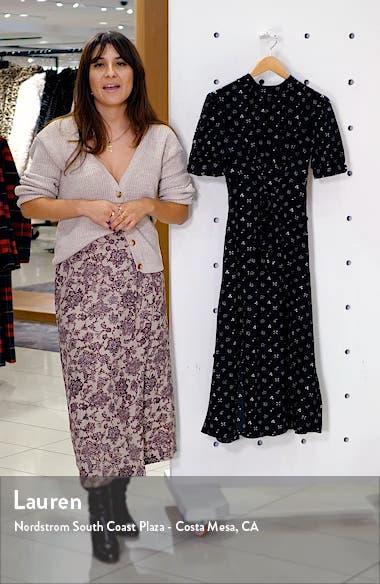 Conversational Back Cutout Midi Dress, sales video thumbnail