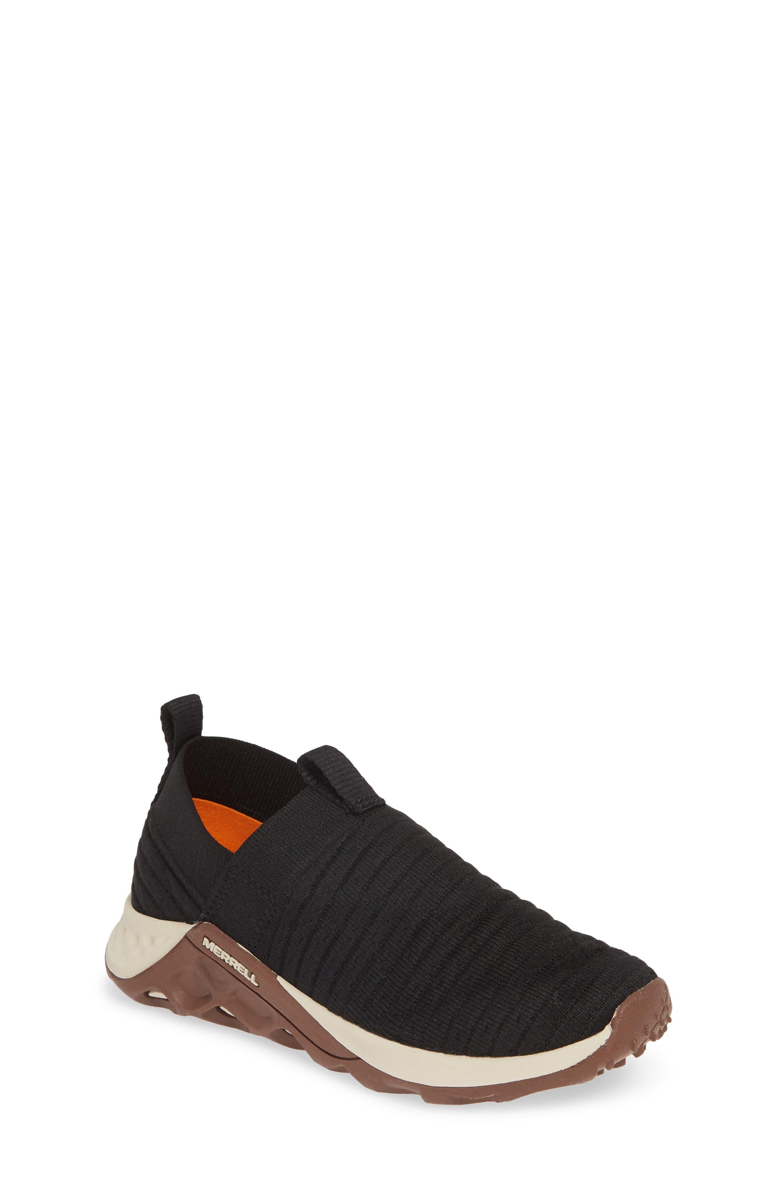 Boys Merrell Range Knit SlipOn Sneaker Size 65 M  Black
