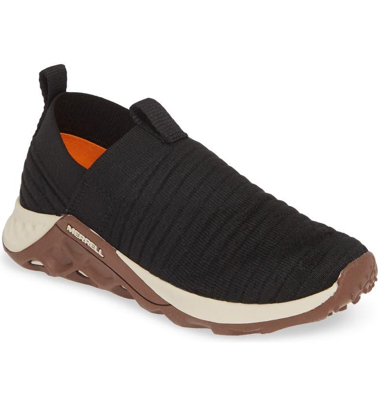 MERRELL Range Knit Slip-On Sneaker, Main, color, BLACK/ GUM
