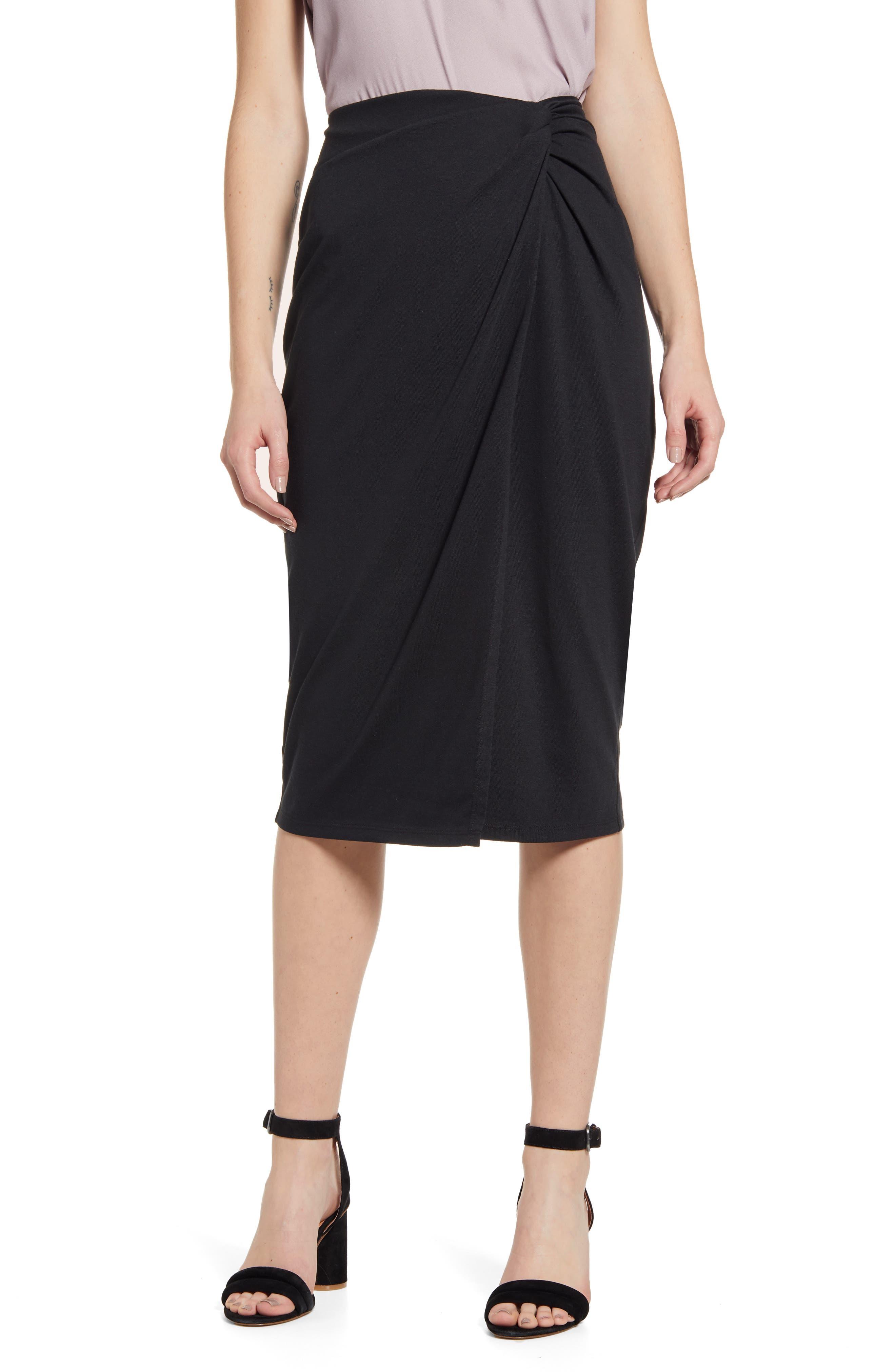 Chelsea28 Wrap Skirt, Black