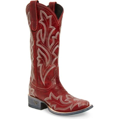 Lane Boots Saratoga Western Boot- Red