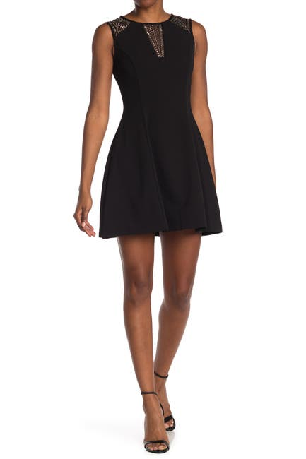 Image of GUESS Beaded Scuba Fit & Flare Mini Dress