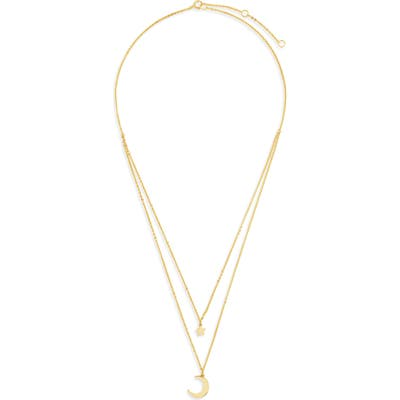 Sterling Forever Moon & Star Layered Necklace