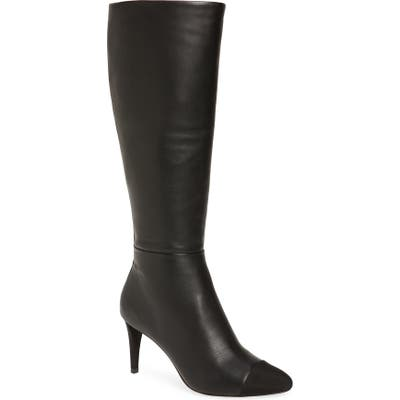Karl Lagerfeld Paris Marcy Knee High Boot- Black