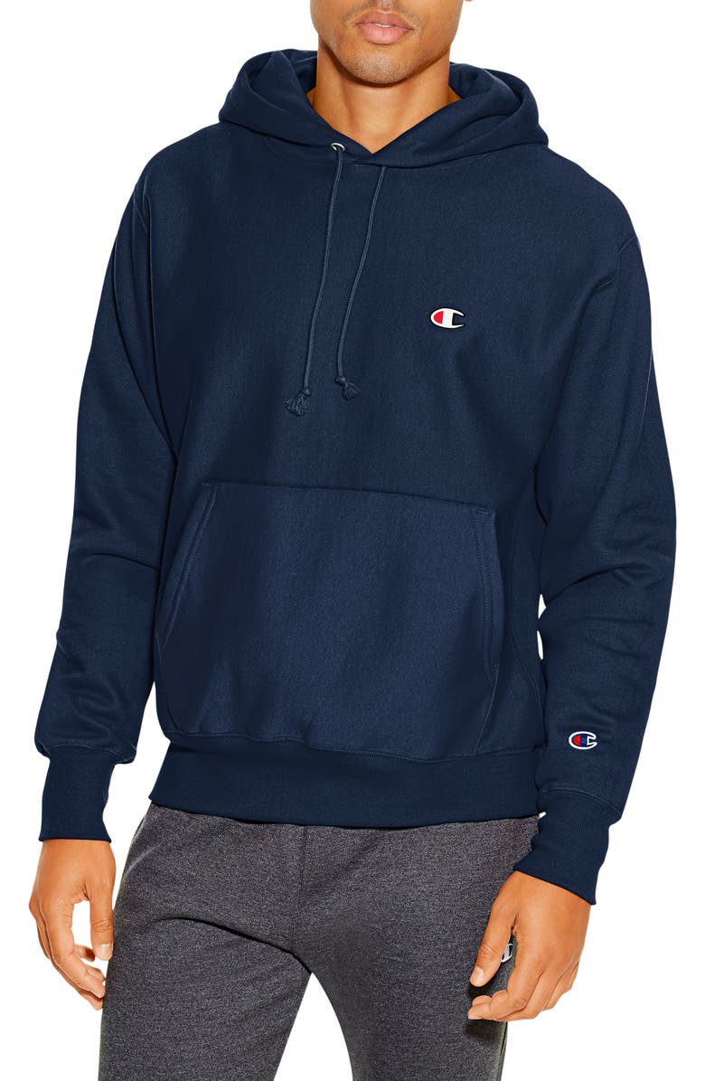 CHAMPION Reverse Weave<sup>®</sup> Pullover Hoodie, Main, color, NAVY